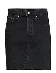 Vintage short denim skirt - BLACK