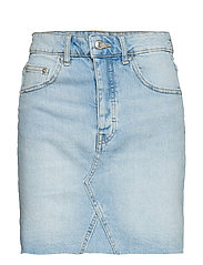 Vintage short denim skirt - LT BLUE