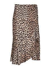 Fran wrap skirt - LEOPARD