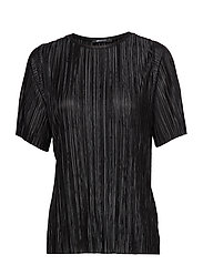 Lydia pleated top - BLACK