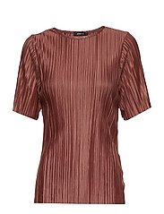 Lydia pleated top - RUST