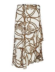 Fran wrap skirt - OFFWHITE CHAIN