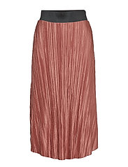 Lydia pleated skirt - BROWN