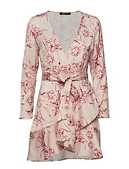 Elina wrap dress - PINK FLOWER