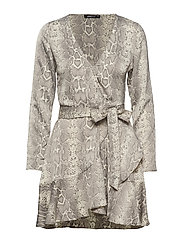 Elina wrap dress - SNAKE/ SOFT REPTILE
