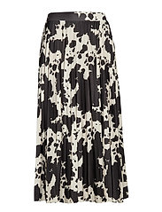 Evita pleated skirt - COW/AOP