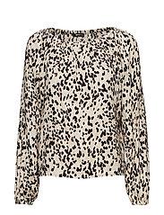 Saga blouse - BEIGE/SPOT
