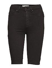 Molly biker denim shorts - BLACK