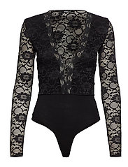 Gry lace body - BLACK