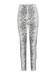 Snake trousers - WHITE/SNAKE