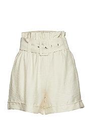 Eddie paperbag waist shorts - WINTER WHITE