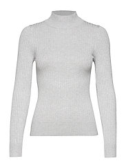 Julia knitted sweater - LT GREYMELANGE