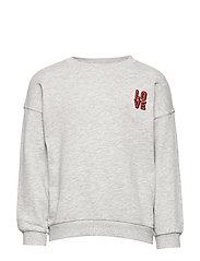 Mini sweatshirt - LOVE/LTGREY