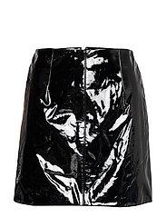 Vinyl skirt - BLACK