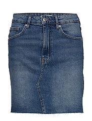 Vintage denim skirt - MID BLUE