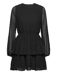Amber pleated dress - BLACK (9000)