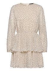 Amber pleated dress - DOT AOP (9508)