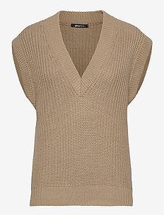 Johanna knitted vest - jumpers - chinchilla (7193)