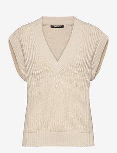 Johanna knitted vest - pullover - ecru (1045)
