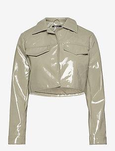 Cassidy pu jacket - nahkatakit - ice green (1523)