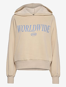 Ellen hoodie - pulls à capuche - oyster/worldw (8370)