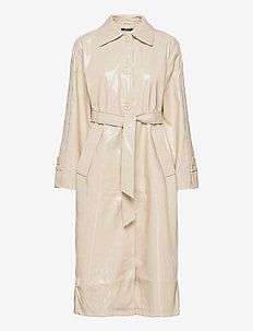 Manda pu coat - trenchcoats - creme bruleé (7397)