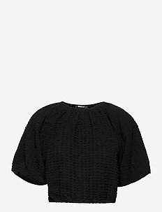 Edina top - crop tops - black (9000)
