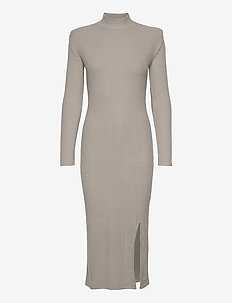 Sophia rib dress - alledaagse jurken - vintage khaki (6056)