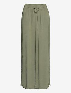 Disa trousers - bukser med brede ben - khaki (7260)
