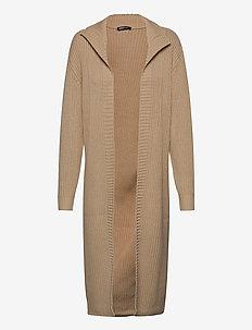 Tess knitted cardigan - uldfrakker - oxford tan (7168)