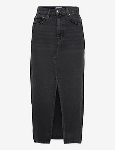 Long denim skirt - jeanskjolar - offblack