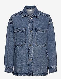 Denim overshirt - overshirts - mid blue