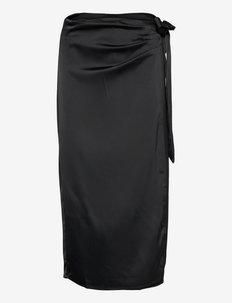 Nova wrap skirt - kääri hameet - black (9000)