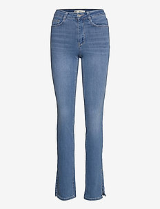 Molly slit jeans - boot cut jeans - lt mid blue (5149)