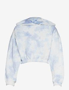 Jackie hoodie - hoodies - blue tye die (5510)