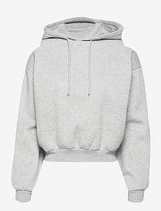 Selma hoodie - hoodies - grey melange (8181)