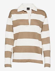 Jadie sweater - polos - beige stripe