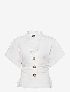 Tyra shirt - blouses à manches courtes - white (1000)