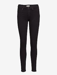 Skinny low waist superstretch jeans - BLACK