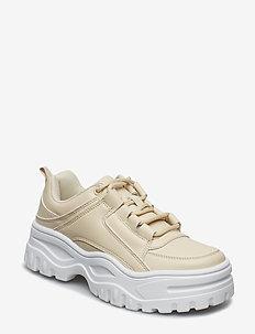 Jennifer platform sneakers - BEIGE