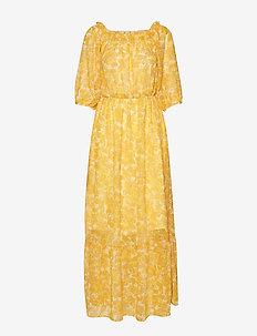 Sahara off shoulder maxi dress - YELLOW PAISLEY