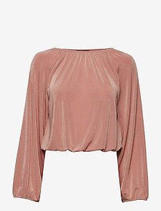 Hillary balloon sleeve top - ASH ROSE