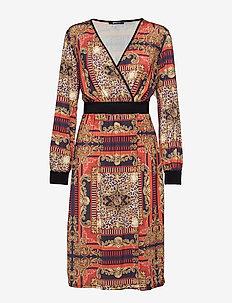 Paula wrap dress - SCARF PRINT