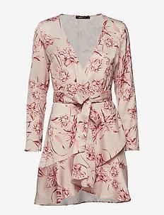 Elina wrap dress - PINK FLOWER