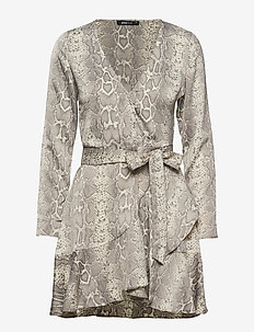 Elina wrap dress - SNAKE/ SOFT REPTILE