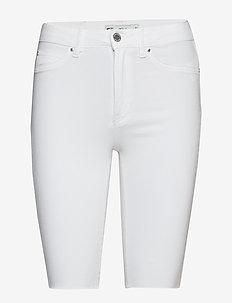 Molly biker denim shorts - OFFWHITE