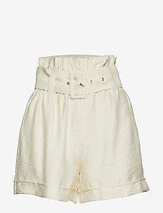 Eddie paperbag waist shorts - WINTER WHITE