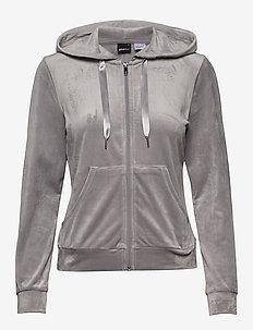 Cecilia velour hoodie - GREY VELVET (8590)