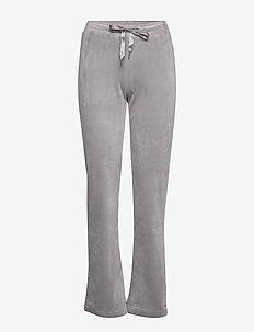 Cecilia velour trousers - GREY VELVET (8590)