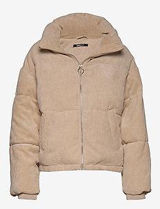 Rose corduroy puffer jacket - BEIGE